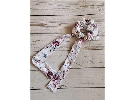 Scrunchie rose z krawatem