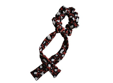 Scrunchie tie  bordowa pantera