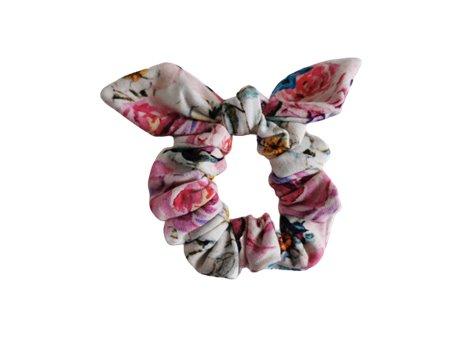Scrunchie  z kokardka różany gaj