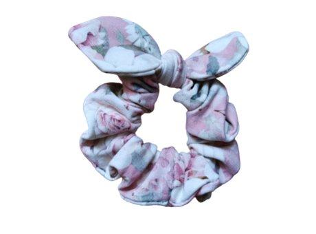Scrunchie  z kokardka pastel rose