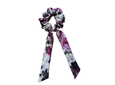 Scrunchie tie   jesienne fiolety